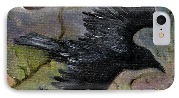 Raven In Twilight IPhone Case by FT McKinstry