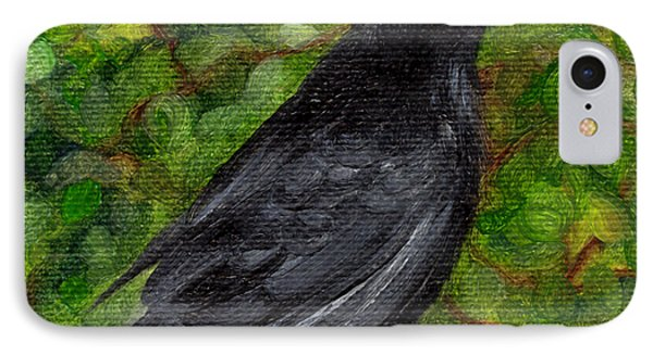 Raven In Wirevine IPhone Case by FT McKinstry