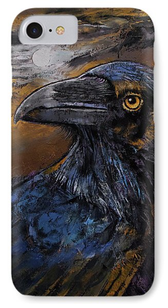 Raven IPhone Case by Michael Creese