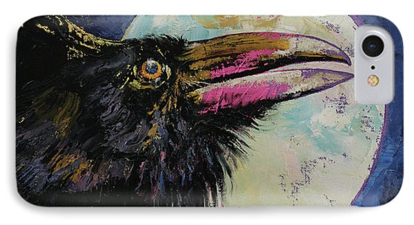 Raven Moon IPhone Case by Michael Creese