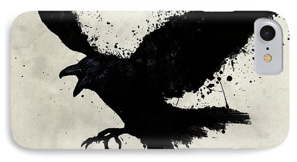 Raven IPhone 7 Case by Nicklas Gustafsson