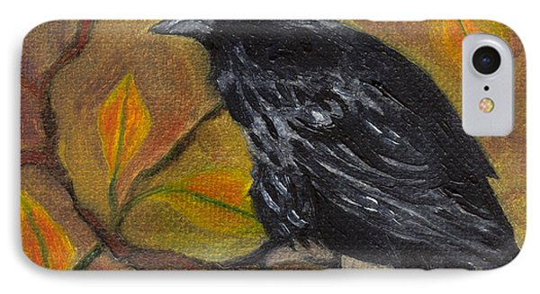 Raven On A Limb IPhone Case by FT McKinstry