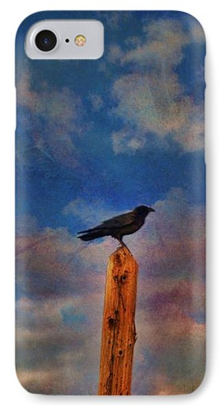 IPhone Case featuring the photograph Raven Pole by Jan Amiss Photography