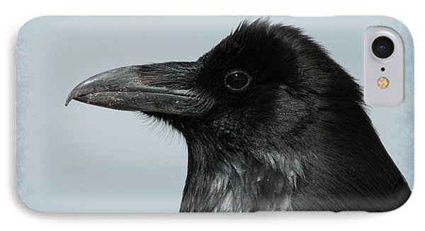 Raven Profile IPhone Case by Ernie Echols