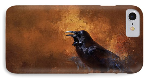 IPhone Case featuring the painting Raven by Theresa Tahara