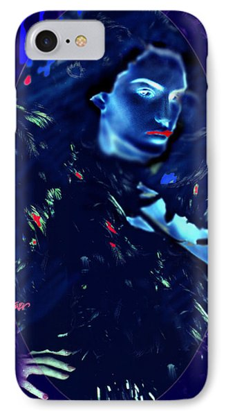 IPhone Case featuring the digital art Raven Woman by Seth Weaver