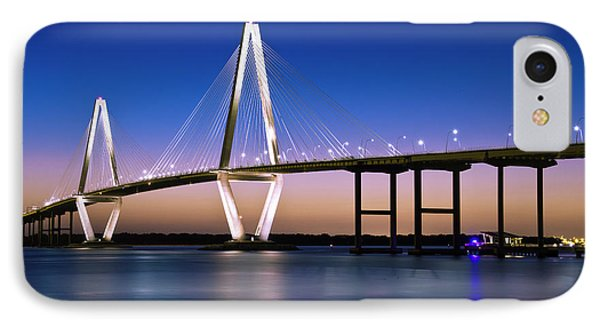 IPhone Case featuring the photograph Ravenel Bridge 2 by Bill Barber
