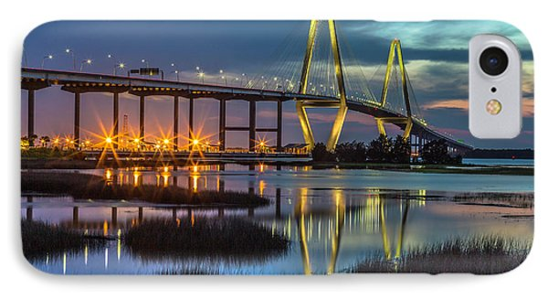 Ravenel Bridge Reflection IPhone Case
