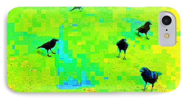 Ravens At Dick's Drive-in IPhone Case by Karl Reid