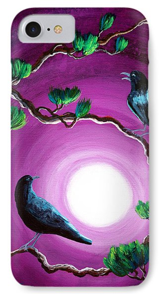 Ravens On A Summer Night IPhone Case by Laura Iverson