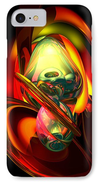Raw Fury Abstract IPhone Case by Alexander Butler