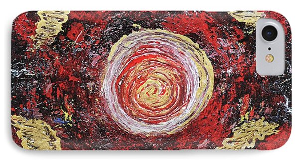 Raw Harmony Red And Gold Art IPhone Case