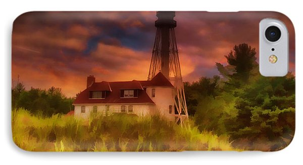 Rawley Point Lighthouse IPhone Case by Joel Witmeyer