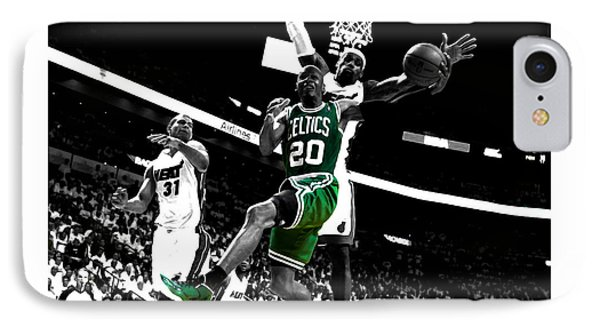 Larry Bird iPhone 7 Case - Ray Allen 2c by Brian Reaves