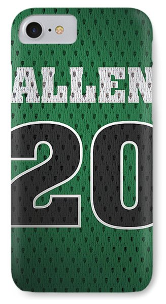Ray Allen Boston Celtics Retro Vintage Jersey Closeup Graphic Design IPhone Case