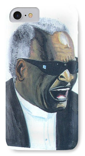 IPhone Case featuring the painting Ray Charles by Emmanuel Baliyanga