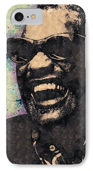 Ray Charles Portrait IPhone Case