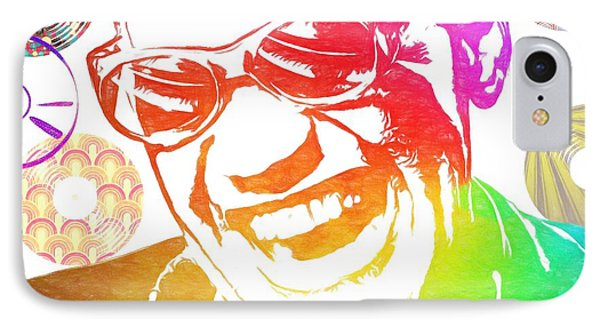 Ray Charles Retro Tribute IPhone Case by Dan Sproul