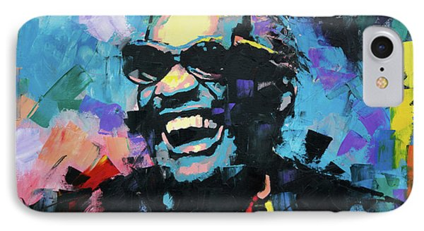 IPhone Case featuring the painting Ray Charles by Richard Day