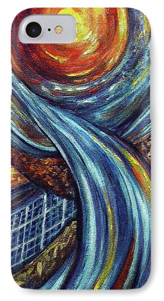 IPhone Case featuring the painting Ray Of Hope 3 by Harsh Malik