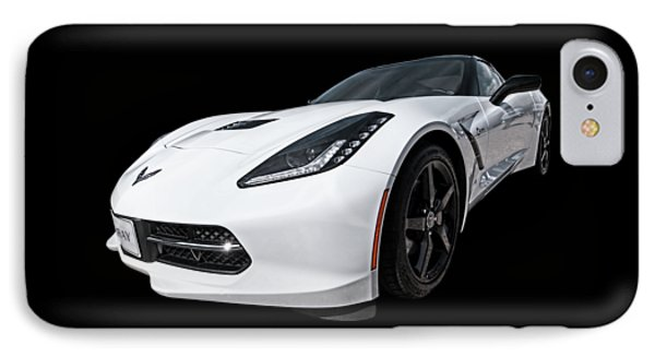 Ray Of Light - Corvette Stingray IPhone Case by Gill Billington