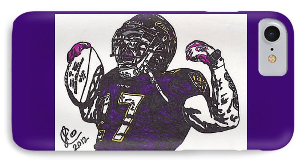 IPhone Case featuring the drawing Ray Rice 1 by Jeremiah Colley