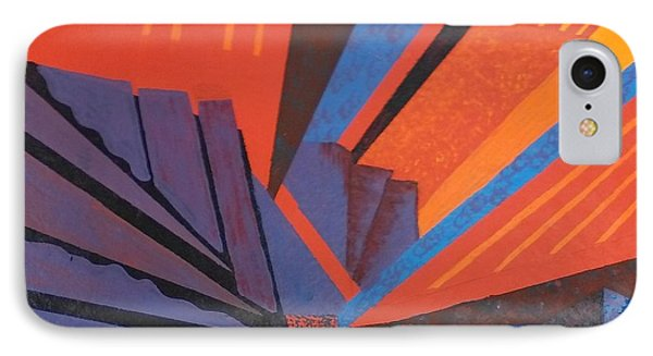 Rays Floor Cloth IPhone Case by Judith Espinoza