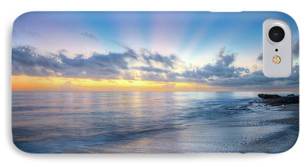 IPhone Case featuring the photograph Rays Over The Reef by Debra and Dave Vanderlaan