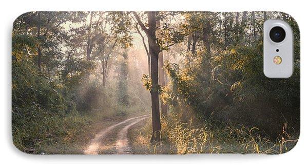 Rays Through Jungle IPhone 7 Case by Hitendra SINKAR