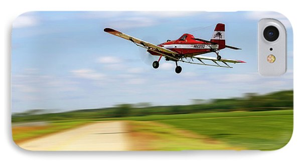IPhone Case featuring the photograph Razorback Flyby - Crop Duster - Ag Pilot by Jason Politte