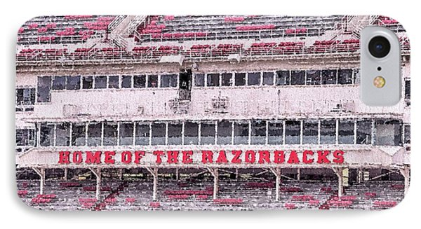 Razorback Stadium IPhone 7 Case by JC Findley