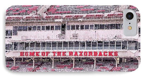 Razorback Stadium IPhone Case by JC Findley