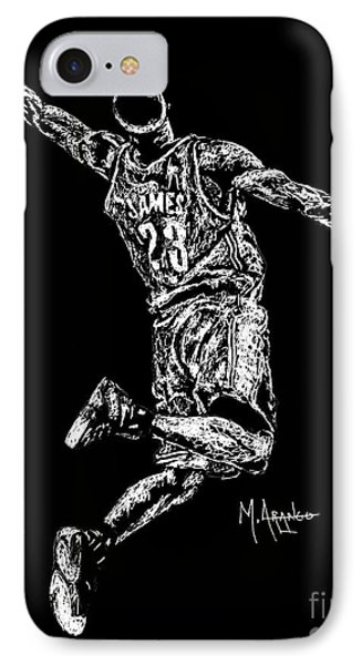 Reaching For Greatness #23 IPhone Case by Maria Arango