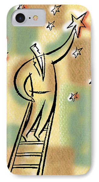 IPhone Case featuring the painting Reaching For The Star by Leon Zernitsky