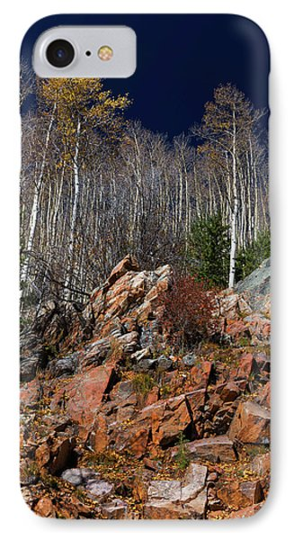 IPhone Case featuring the photograph Reaching Into Blue by Stephen Anderson