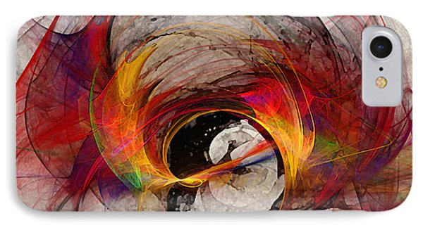 Reaction Abstract Art IPhone Case by Karin Kuhlmann