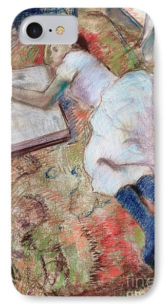 Reader Lying Down Phone Case by Edgar Degas