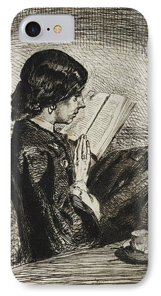 Reading By Lamplight IPhone Case by James Abbott McNeill Whistler