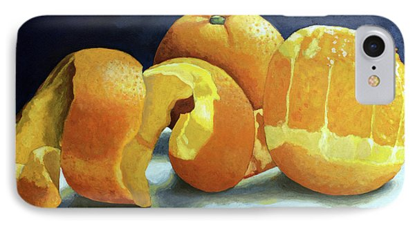 IPhone Case featuring the painting Ready For Oranges by Linda Apple