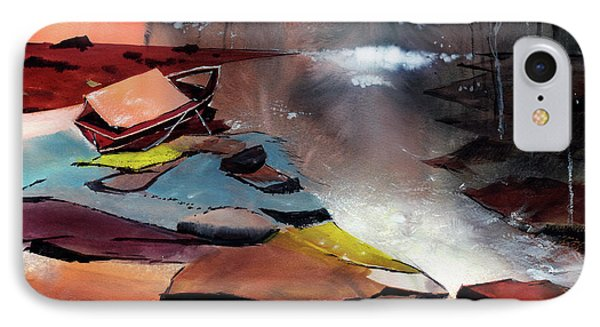 IPhone Case featuring the painting Ready To Leave by Anil Nene