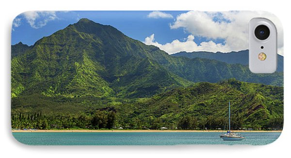 Ready To Sail In Hanalei Bay Phone Case by James Eddy