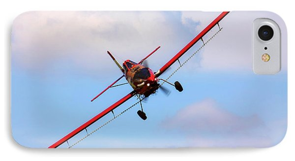 IPhone Case featuring the photograph Ready To Spray - Crop Duster - Ag Pilot - Arkansas Razorbacks by Jason Politte