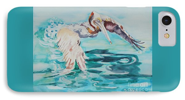 IPhone Case featuring the painting Ready To Take Off by Mary Haley-Rocks