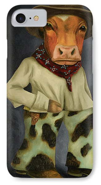 Real Cowboy 2 IPhone Case by Leah Saulnier The Painting Maniac