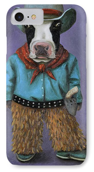 Real Cowboy IPhone Case by Leah Saulnier The Painting Maniac