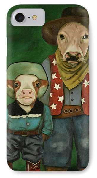 Real Cowboys 3 IPhone Case by Leah Saulnier The Painting Maniac