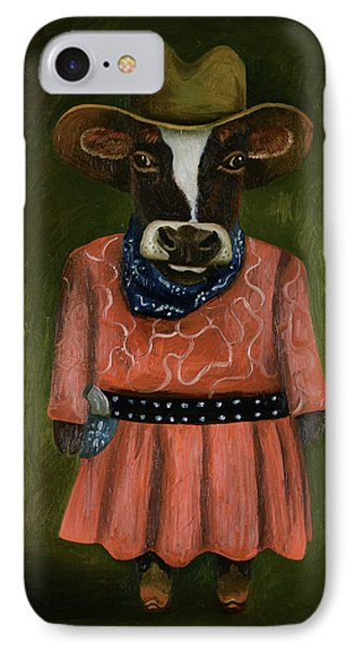 Real Cowgirl IPhone Case by Leah Saulnier The Painting Maniac