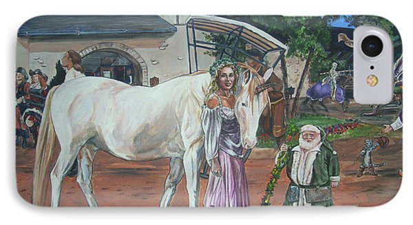IPhone Case featuring the painting Real Life In Her Dreams by Bryan Bustard