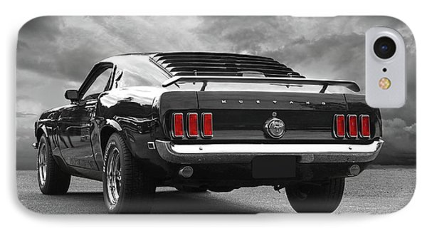 Rear Of The Year - '69 Mustang IPhone Case by Gill Billington