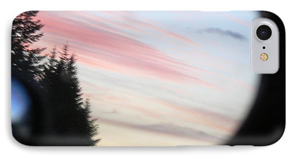 IPhone Case featuring the photograph Rear View Sunset Sky by Pamela Patch